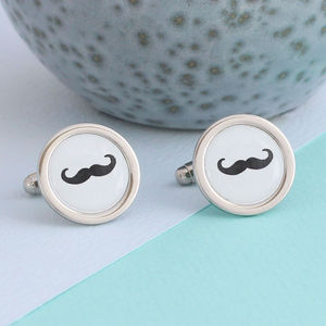 Moustache Cufflinks - men's jewellery