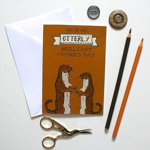 Woodland Otter Father's Day Card - winter sale