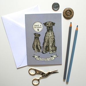 Schnauzer Dog Father's Day Card - winter sale