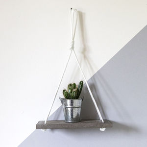 Concrete Oblong Succulent Shelves - furniture