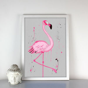 Flamingo Fancy Print