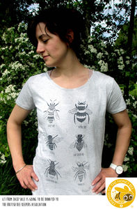 Organic Womens 'Bee Tee' T Shirt - women's fashion