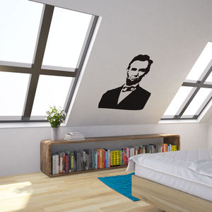 Abraham Lincoln Portrait Vinyl Wall Art - wall stickers