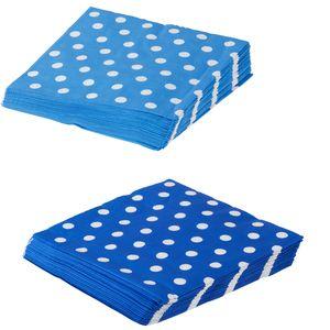 Blue Polka Dot Paper Napkins - picnics & barbecues