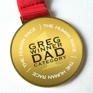 'Human Race' Winner's Medal For Him