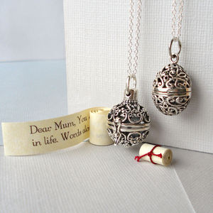 Sterling Silver Secret Message Locket - gifts for mothers