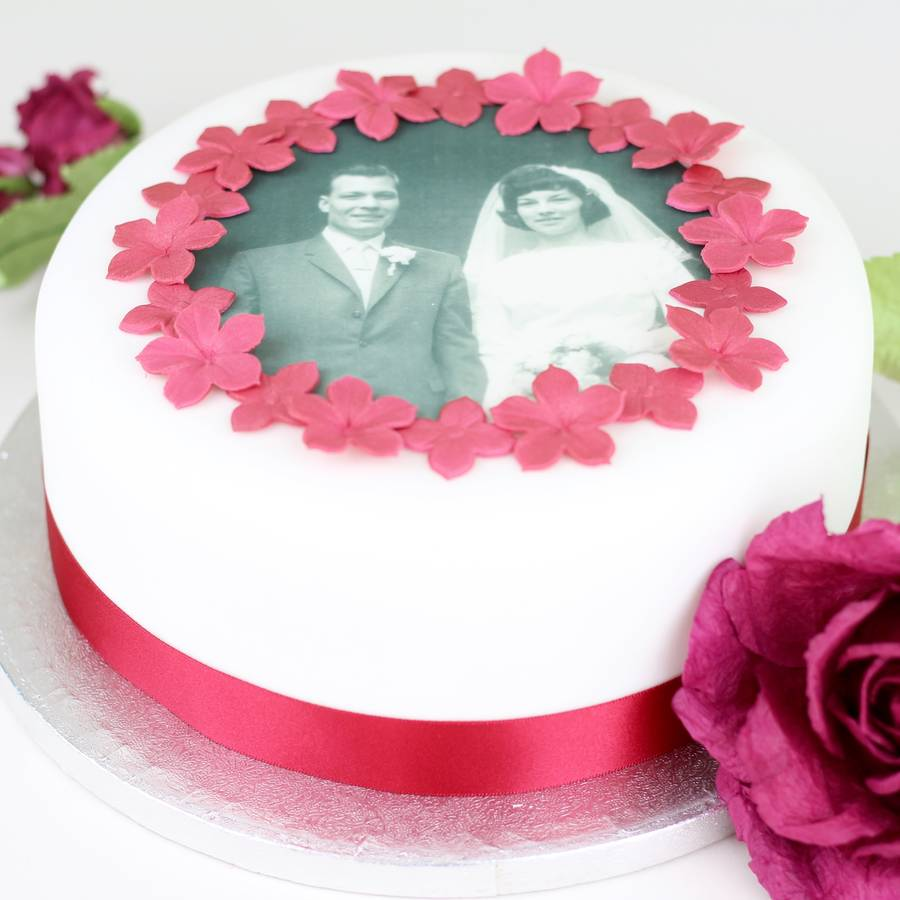 Cake Decorating Ideas For Ruby Wedding : personalised wedding anniversary cake decorating kit by ...