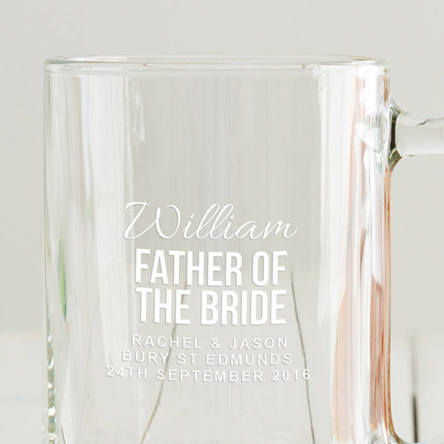 Personalised Father Of The Bride Tankard By Becky Broome