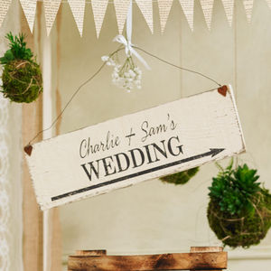 Personalised Handmade Wedding Sign - decorative accessories