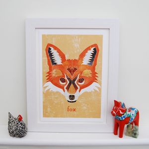 Personalised Fox Animal Print - animals & wildlife