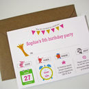 Girl's Animal Party Invitation