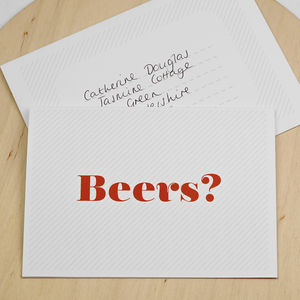 Let's Do Beers Invitation Card