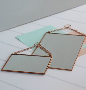 Small Rectangular Shaped Copper Mirror
