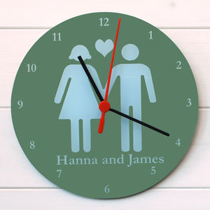 Valentines Clock - living room