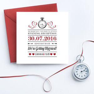 Evening Reception Wedding Invites - save the date cards