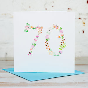 70th Birthday Card - birthday cards