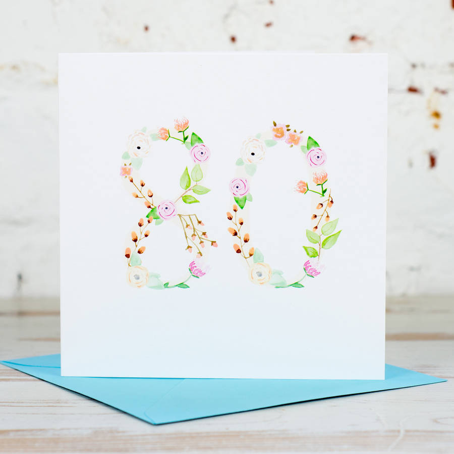 80th Birthday Card By Yellowstone Art Boutique Notonthehighstreet