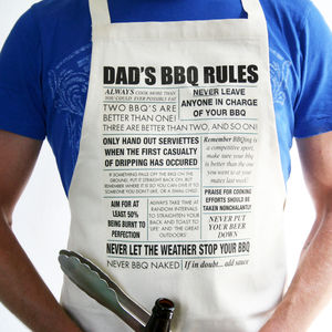 Personalised Bbq Rule Apron - gifts for fathers