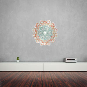 Calligraphy Floral Patterns Mandala Vinyl Wall Art