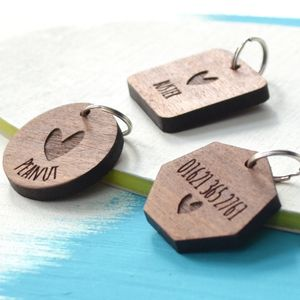 Personalised Heart Pet Tag - gifts for pets