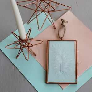 Hanging Copper Photo Frame - picture frames