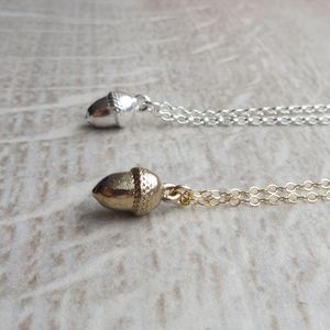 Baby Acorn Necklace - christening jewellery