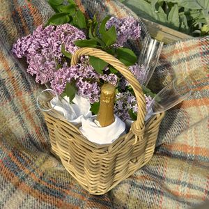 Picnic Bottle Basket - picnic hampers & baskets