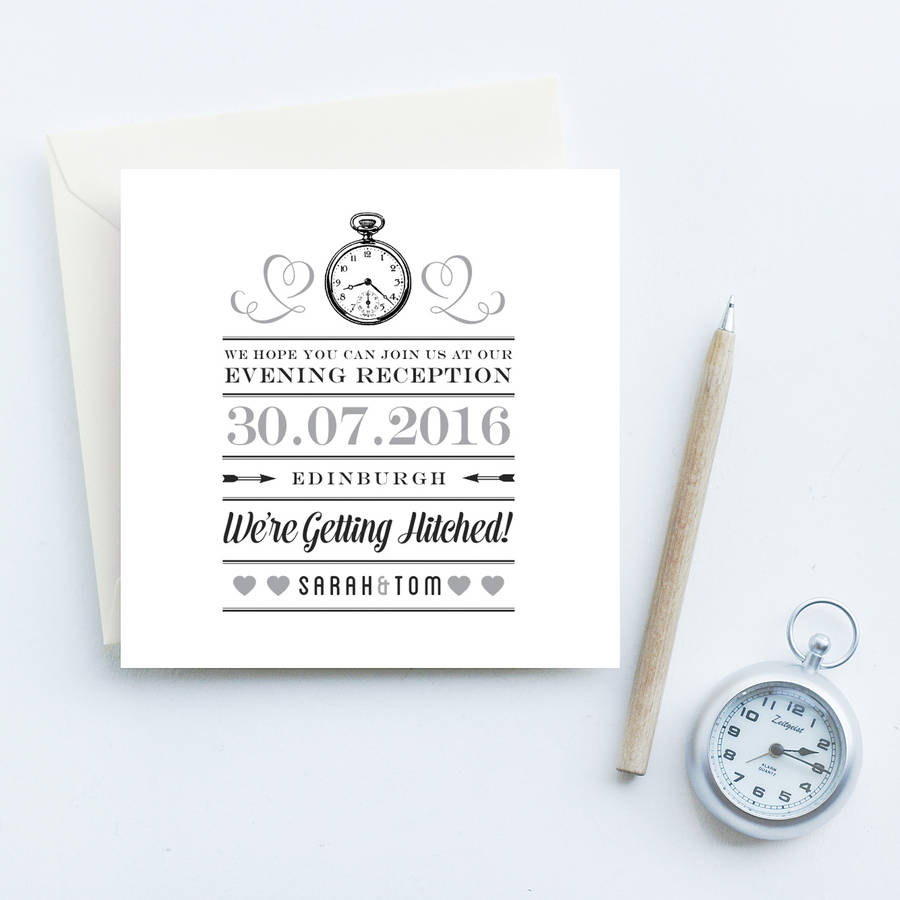 evening reception wedding invites by quirky gift library ...