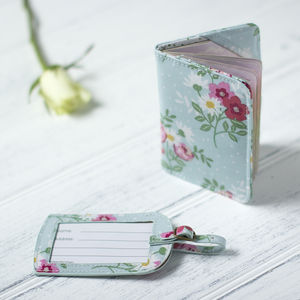 Floral Luggage Tag Or Passport Holder