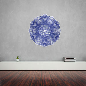 Calligraphy Purple Mandala Vinyl Wall Art