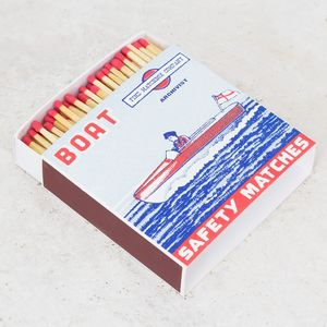 Large Boat Print Luxury Matchbox - fireplace accessories