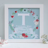 Personalised Christening Framed Name Print - prints & art