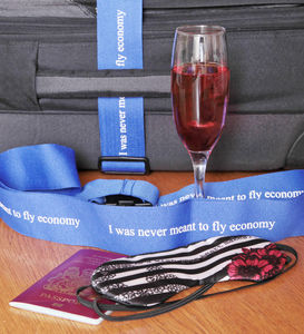 I Was Never Meant To Fly Economy Luggage Strap - luggage tags & passport holders