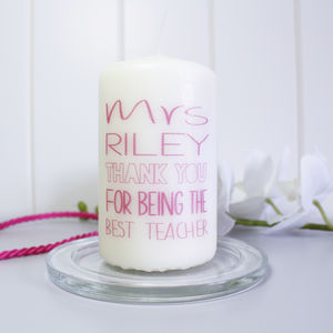 Personalised 'Thank You' Candle For Teachers