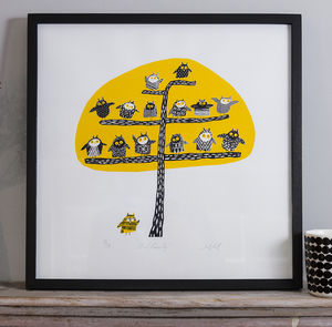 Owl Family Limited Edition Silkscreen Print