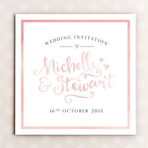Watercolour Wedding Invitation - wedding stationery