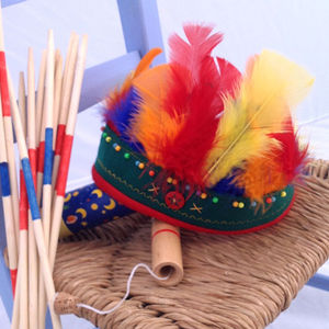 Real Feather Indian Brave Headdress - fancy dress