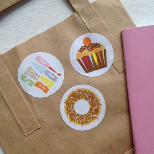 Cupcake Stickers - kitchen accessories