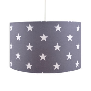 Handmade Grey Stars Lampshade - lighting