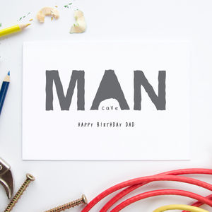 Personalised Man Cave Card