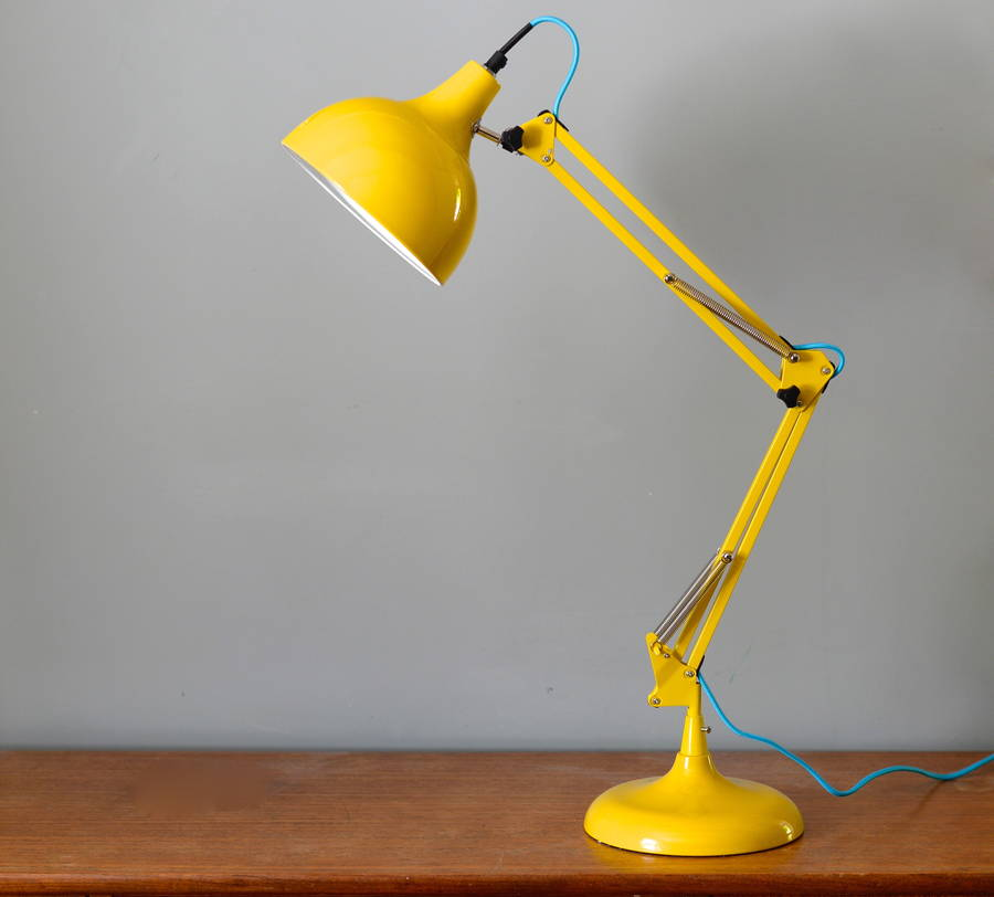 Acid Yellow Angled Desk Lamp. acid yellow angled desk lamp by the forest   co