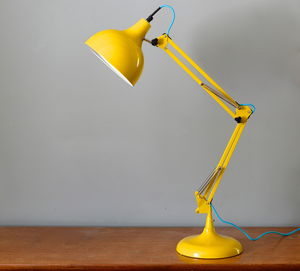 Acid Yellow Angled Desk Lamp - living room