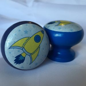 Children's Rocket Door Drawer Cupboard Knob