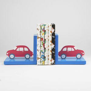 Car Bookends - children's room