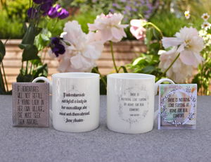 Jane Austen Bone China Mug Gift Set