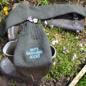 Personalised Wellington Boot Gardening Socks