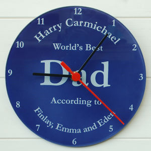 Best Dad Clock - living room