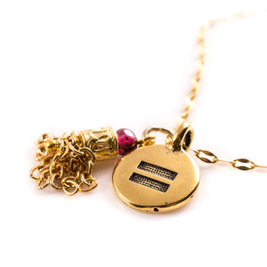 Equaility Charm Tassel Necklace