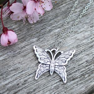 Silver Butterfly Charm Necklace - necklaces & pendants