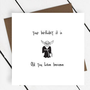 'Your Birthday It Is' Star Wars Yoda Greeting Card - funny cards